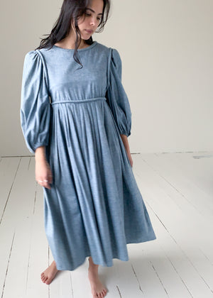 Vintage Barboglio Chambray Weekender Dress