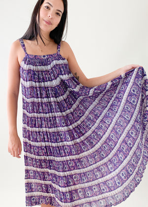 Vintage 1970s Indian Cotton Sundress