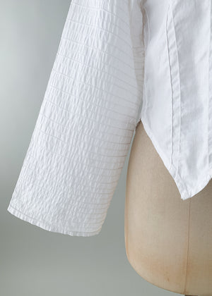 Vintage 1970s Wide Sleeve White Shirt