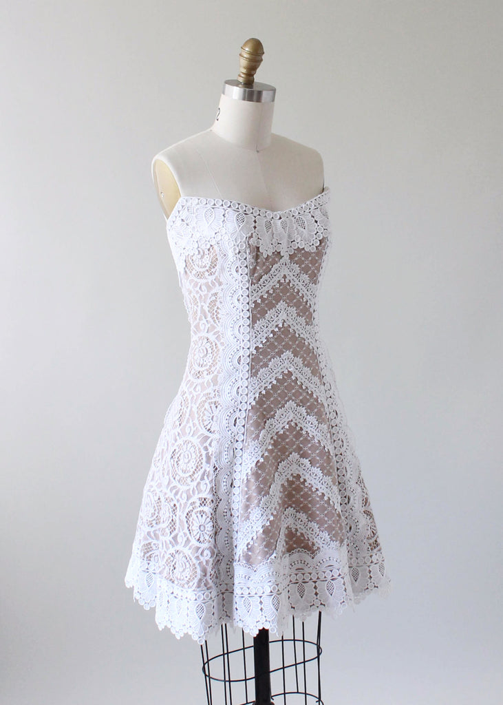 Vintage 1980s Bob Mackie Lace Party Dress
