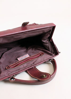 Vintage 1980s Capezio Burgundy Vegan Doctor Bag