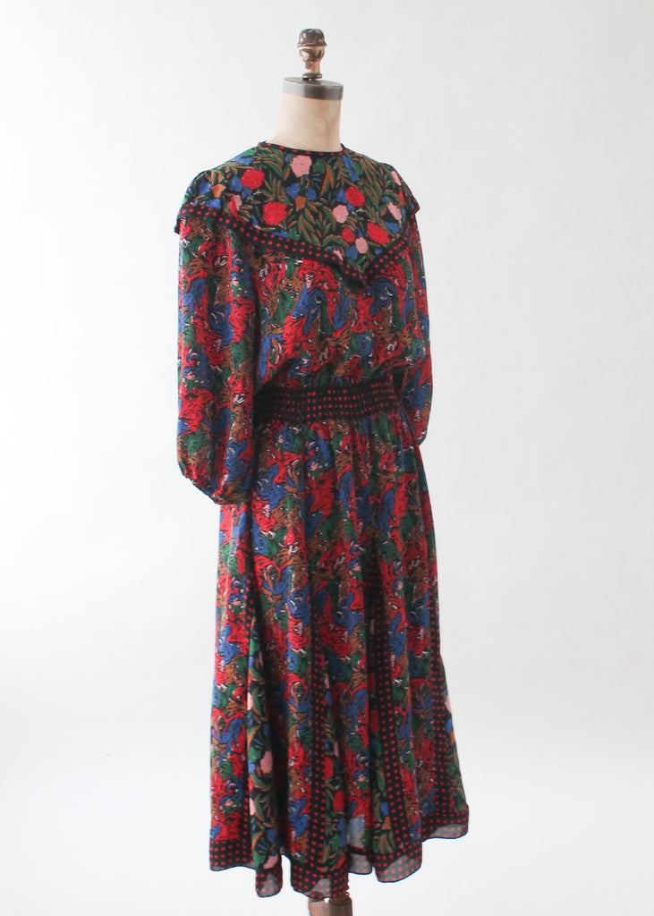 Vintage Diane Freis Floral Dress