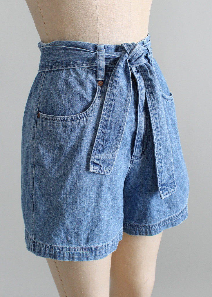 High waisted shorts 1980's