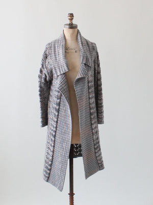 Vintage 1980s Missoni Neutral Knit Duster Cardigan Coat