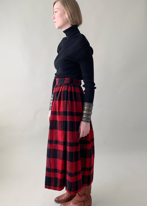 Vintage 1980s Ralph Lauren Buffalo Plaid Skirt