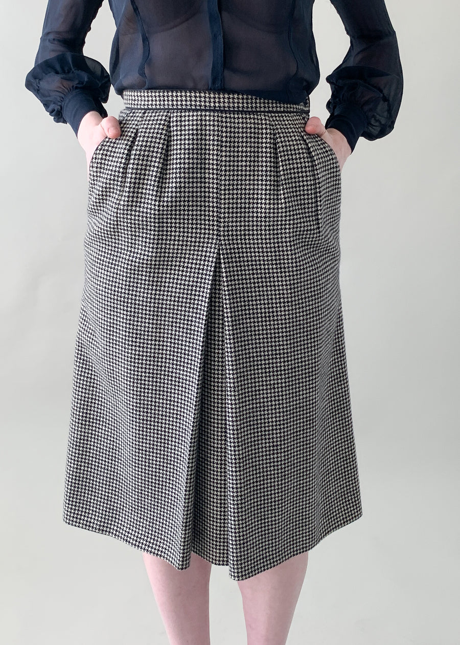 Vintage 1970s Yves Saint Laurent Houndstooth Skirt