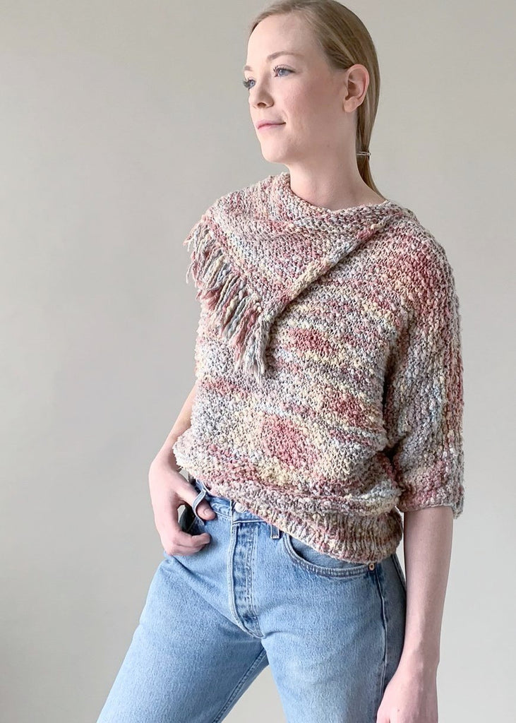Vintage 1980s Fringe Knit Sweater