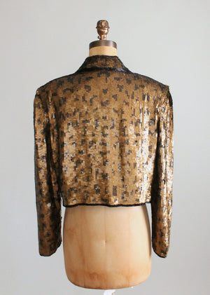 Vintage 1980s Sequined Slouch Jacket