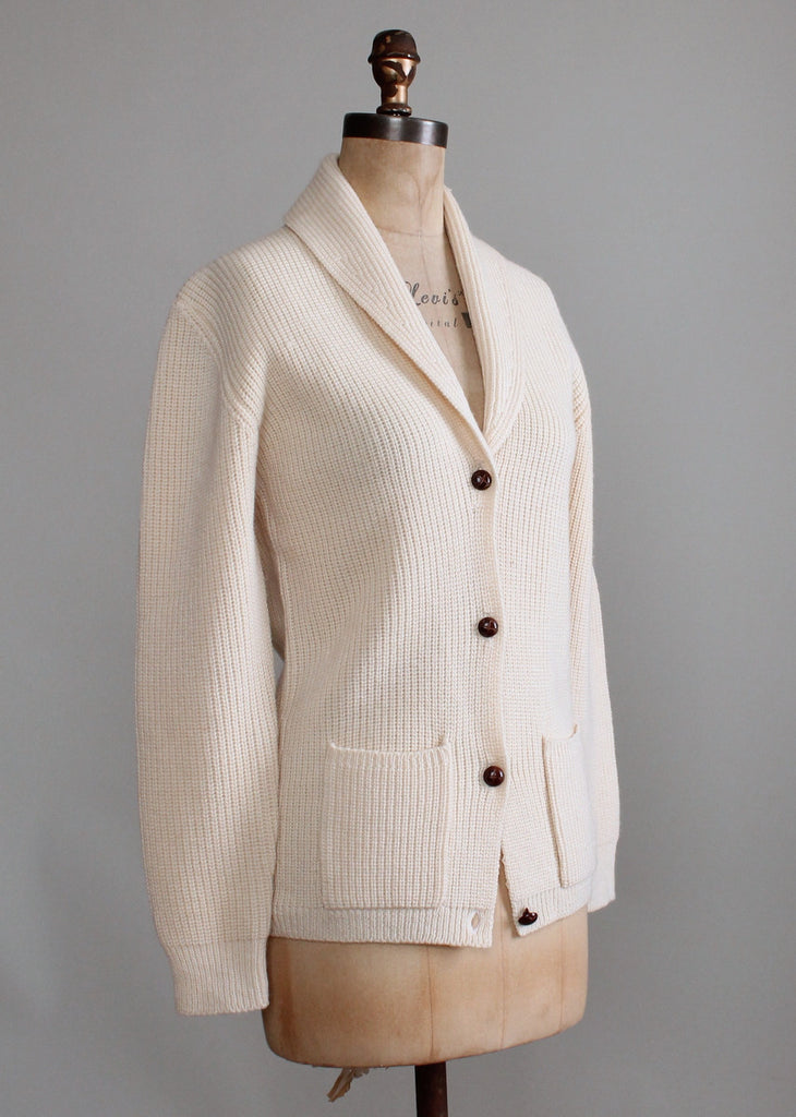 Vintage 1980s Shawl Collar Cozy Cardigan