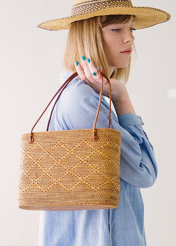 Vintage Wicker Basket Purse