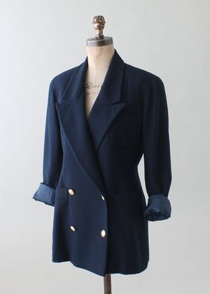 Vintage 1990s Dior Double Breasted Blazer