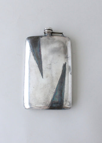 Vintage 1930s Art Deco Oversized Two Toned Flask