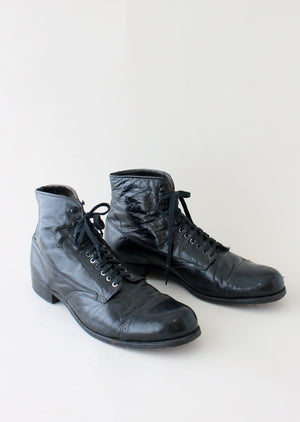 1930s Mens Cap Toe Ankle Boots
