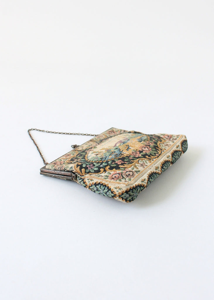 Vintage 1930s French Tapestry Purse