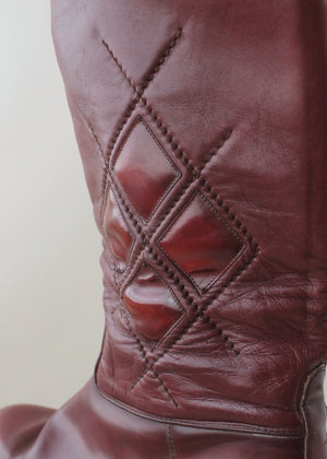 Vintage 1960s Mens MOD Stitched Leather Boots