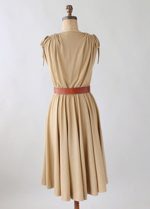 Vintage 1970s Alfred Weber Everyday Summer Dress