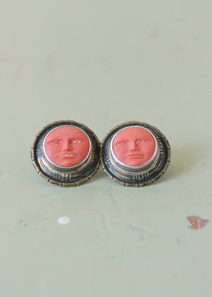 Vintage Tabra Terra Cotta Moonface Earrings
