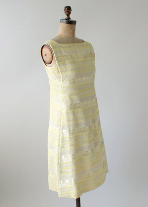 Vintage 1960s Malcolm Starr MOD Gold Lame Party Dress