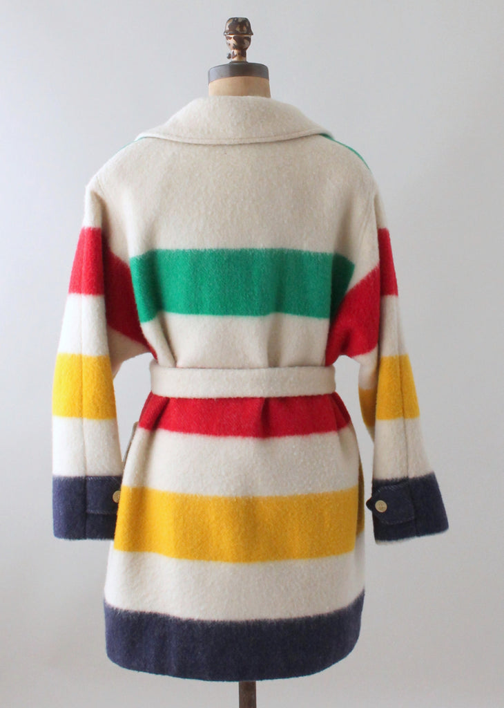 Vintage 1970s Hudson Bay Three Point Blanket Coat