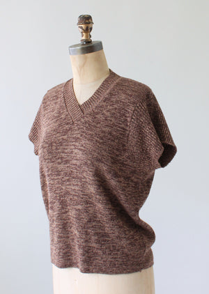 Vintage 1970s Fall Brown Slouch Sweater