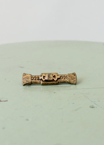 Victorian Gold Bar Pin