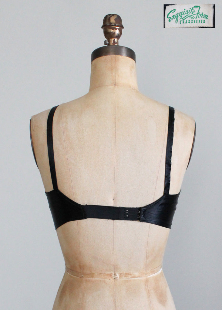 Vintage 1940s Black Pin Up Bullet Bra