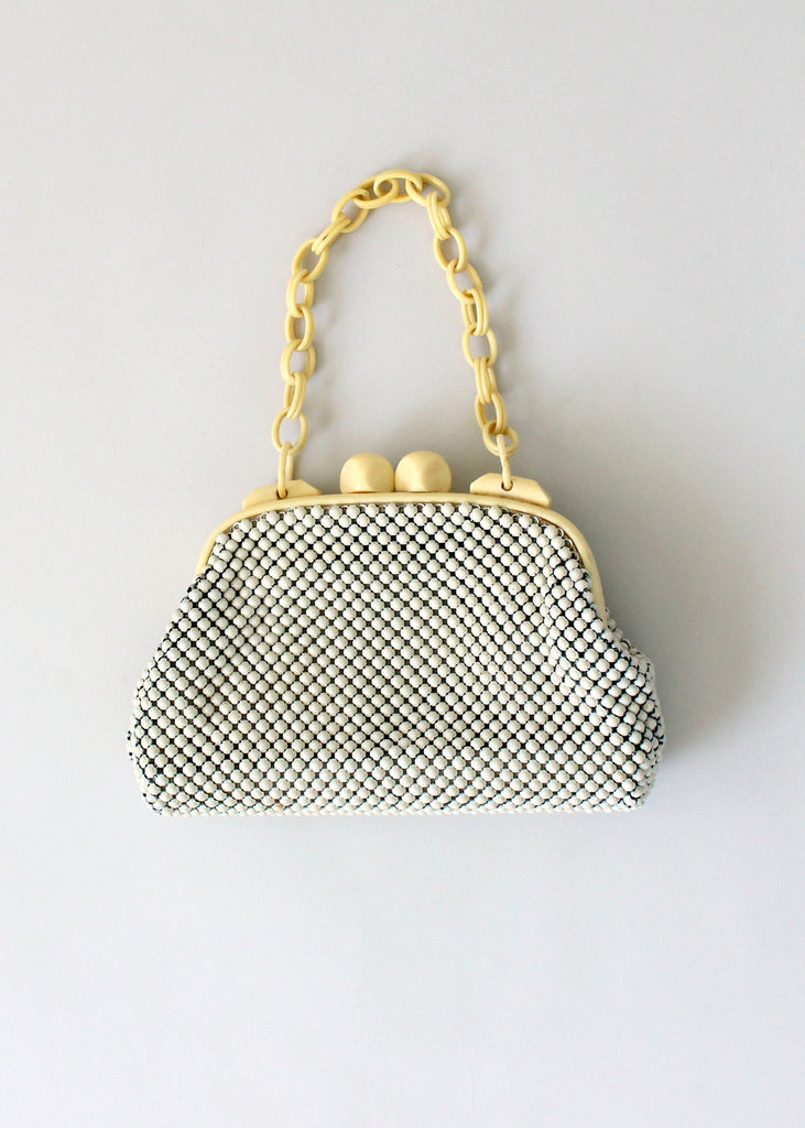 Vintage 1940s Whiting and Davis Mesh and Celluloid Purse