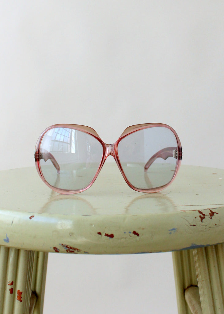 Vintage 1960s Pink Frame French Sunglasses