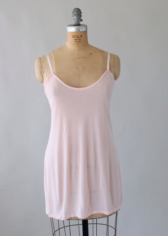 Vintage 1940s Rayon Knit Camisole Tank