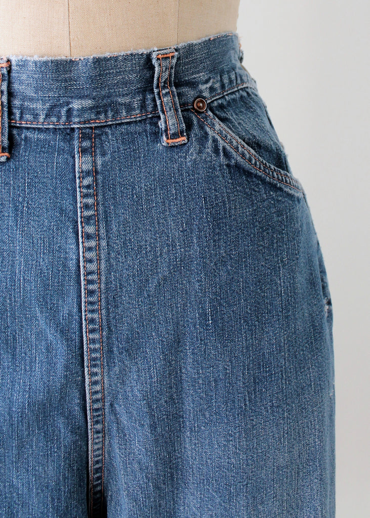 Vintage 1950s Distressed Denim Jeans