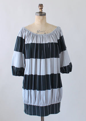 Vintage 1970s Marimekko Graphic Cotton Dress
