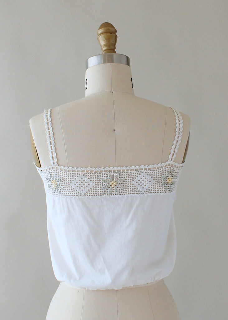 Edwardian Knotted Flowers Camisole Tank Top
