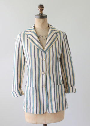 Vintage 1960s French Striped Jacket