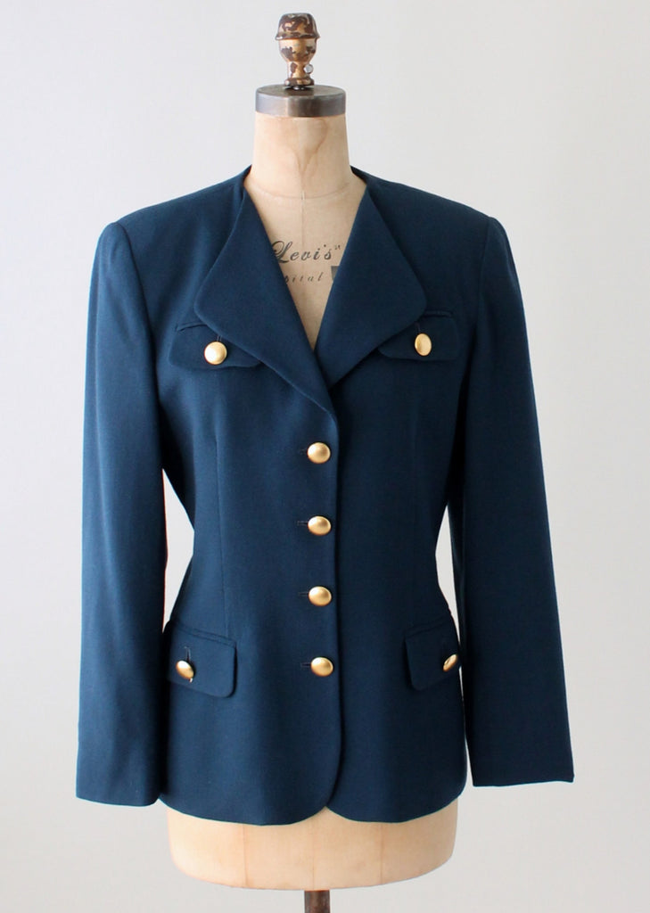 Vintage 1970s Christian Dior Blue Jacket