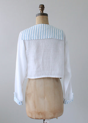 Vintage Edwardian Striped Sailor Blouse