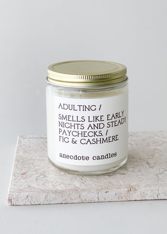 Adulting Anecdote Candle