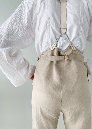 Antique 1840s Linen Menswear Pants