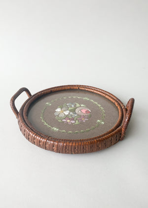 Antique Edwardian Wicker Dresser Tray