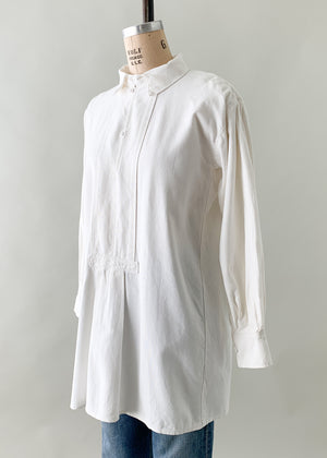 Antique Early 1900s Linen Tunic Shirt