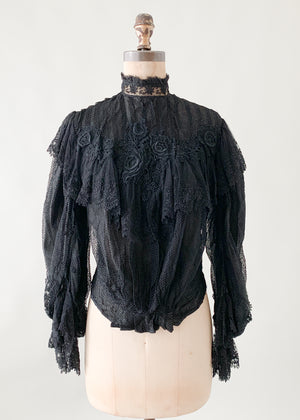 Antique Belle Epoque Lace Blouse