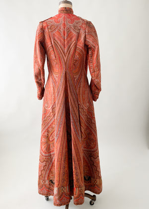 Antique Victorian Paisley Duster Coat