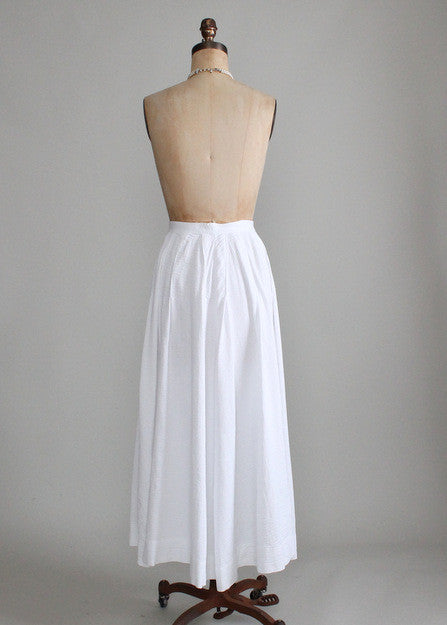Vintage 1910s Cotton Bustle Skirt