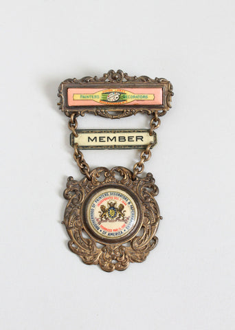 Antique Brotherhood of Painters Metal Badge