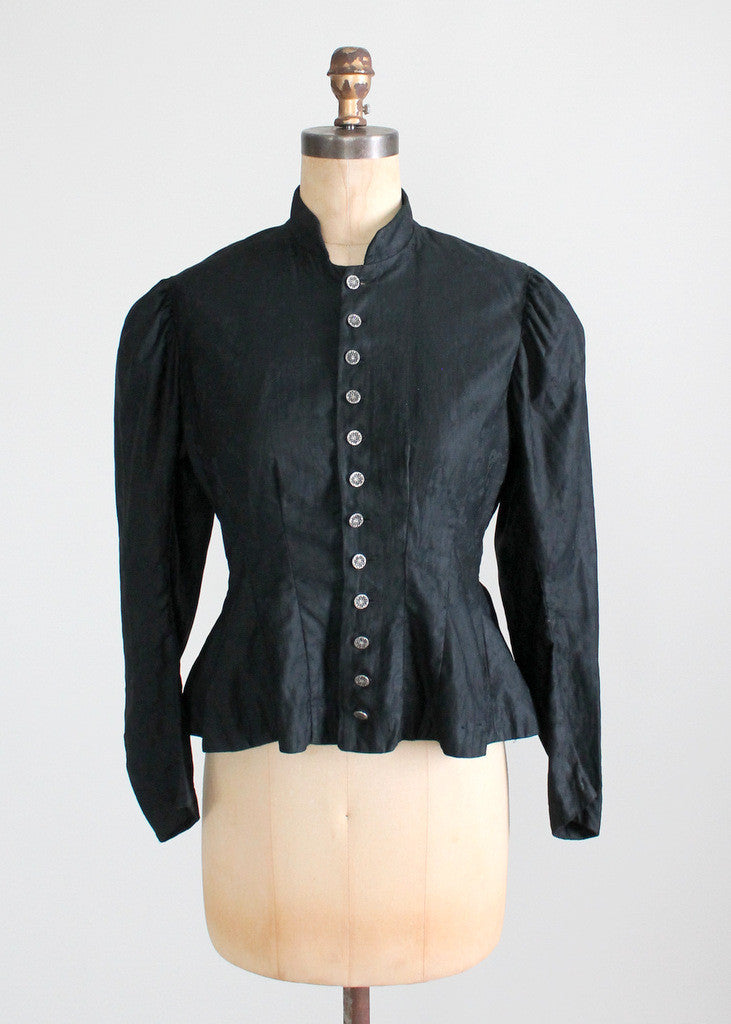 Antique Victorian Cotton Nipped Waist Jacket