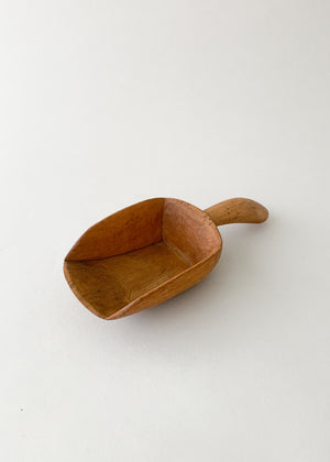 Antique Wood Scoop