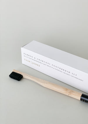 Bamboo & Charcoal Toothbrush (Individual or Set)
