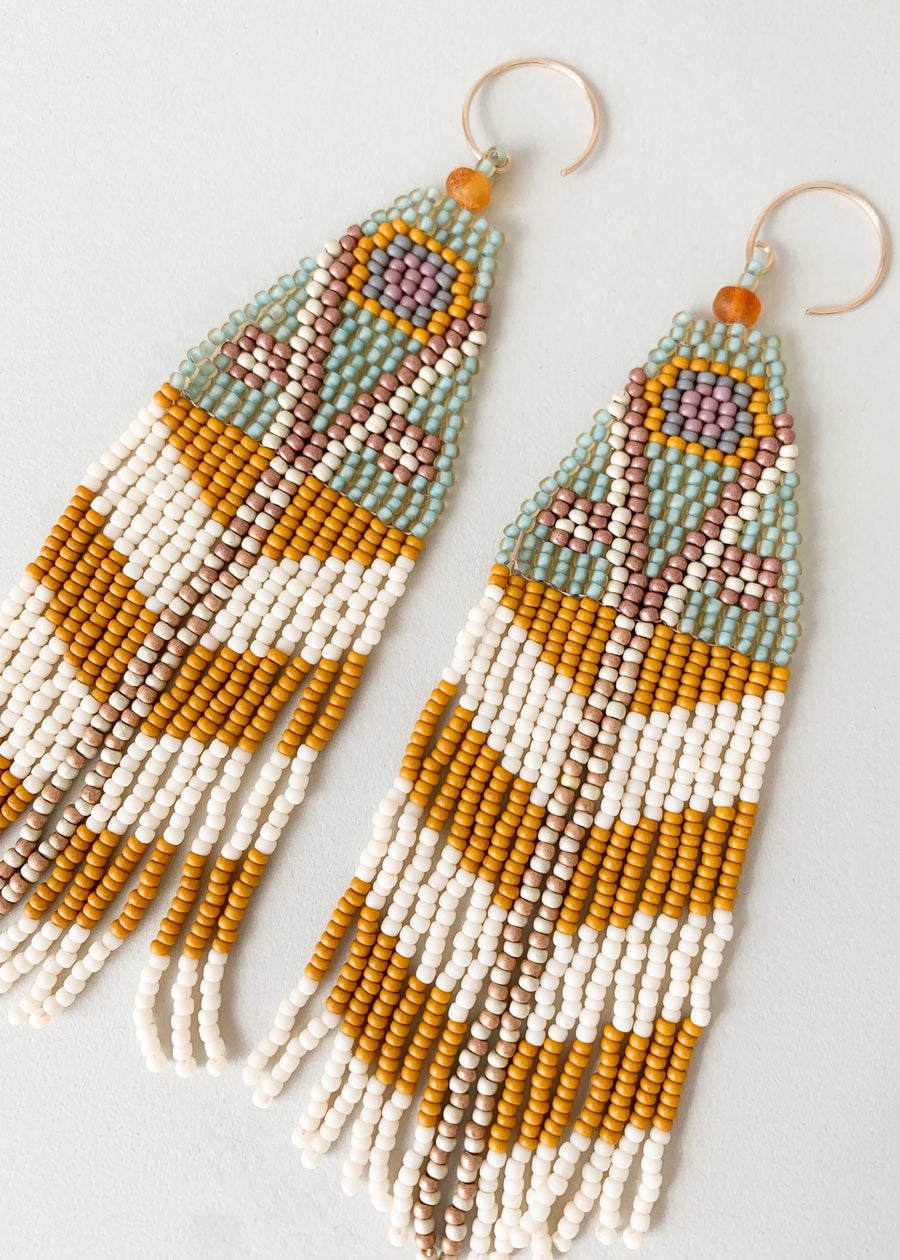 Moth Variation Three Beaded Earrings