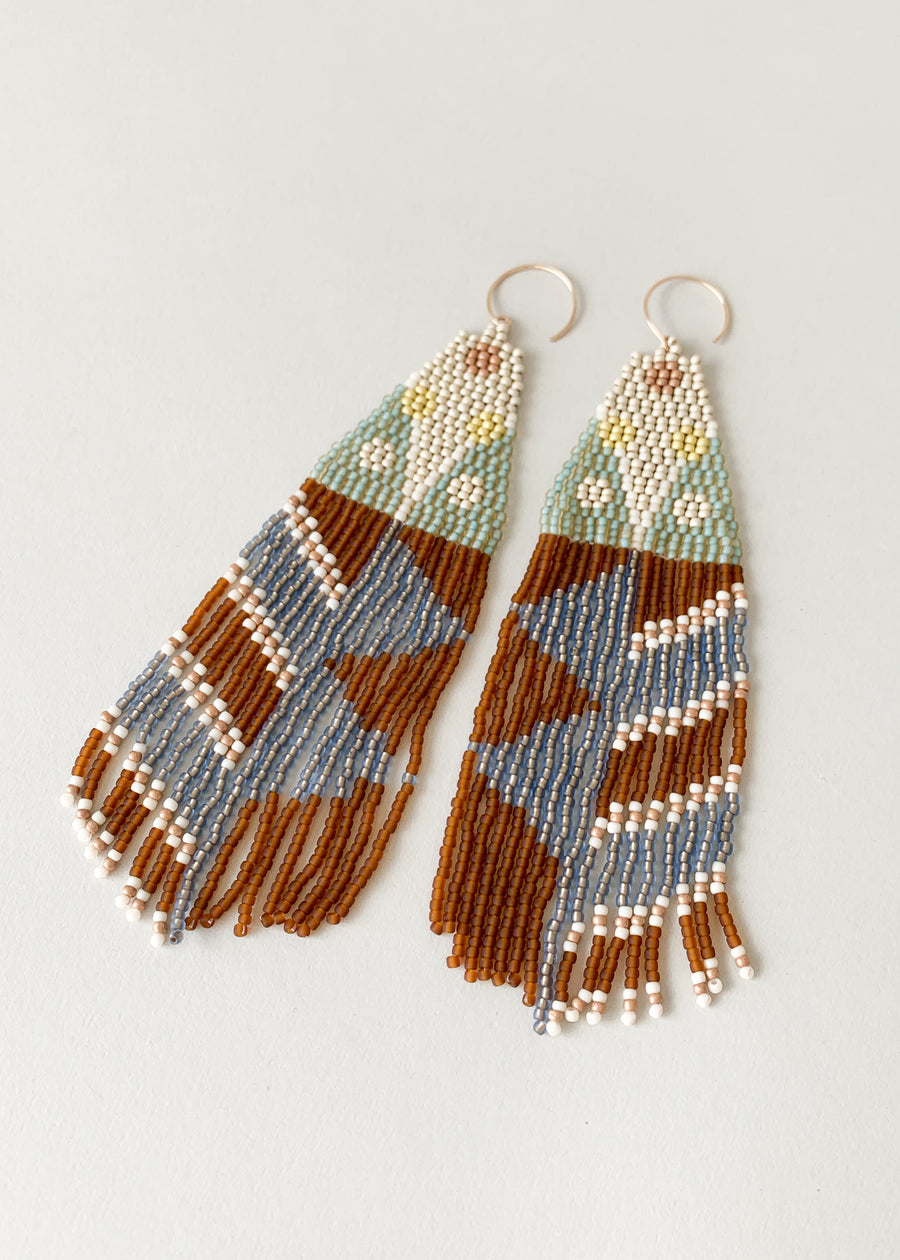 Moth Variation Two Beaded Earrings
