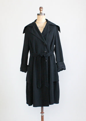 Vintage Edwardian / Early 1920s Fall Weight Coat