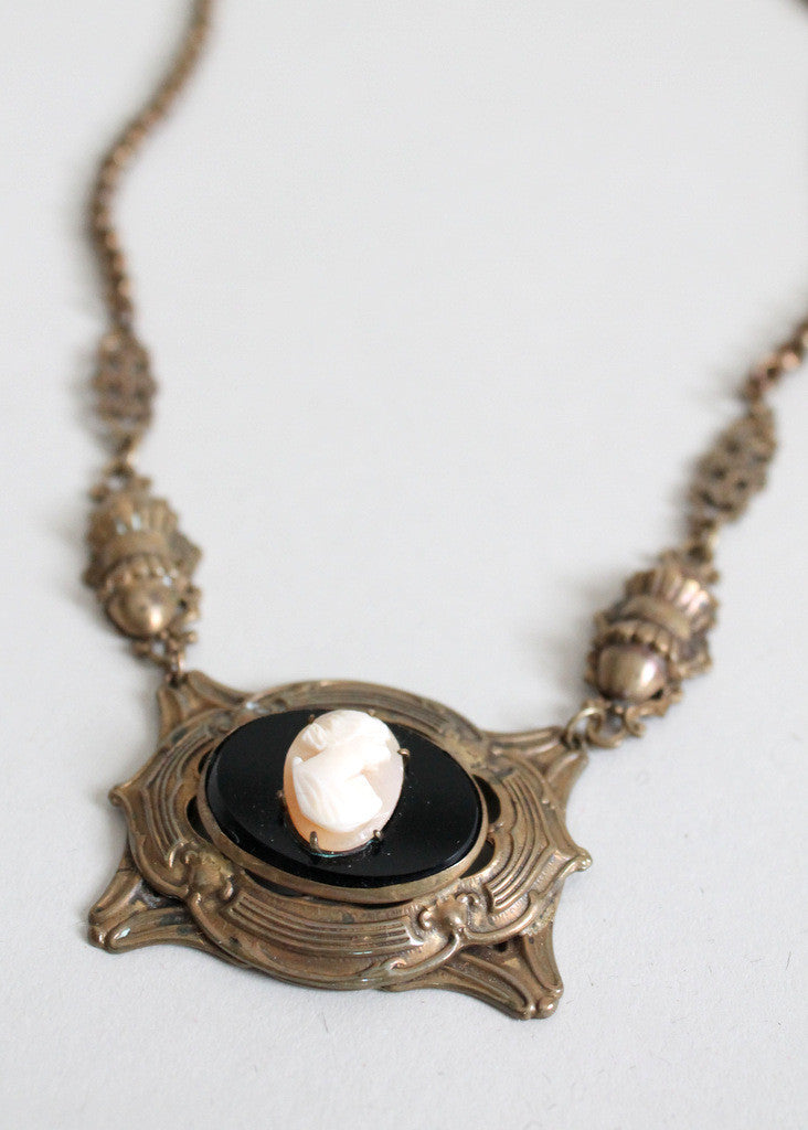 Antique Art Nouveau Cameo Necklace